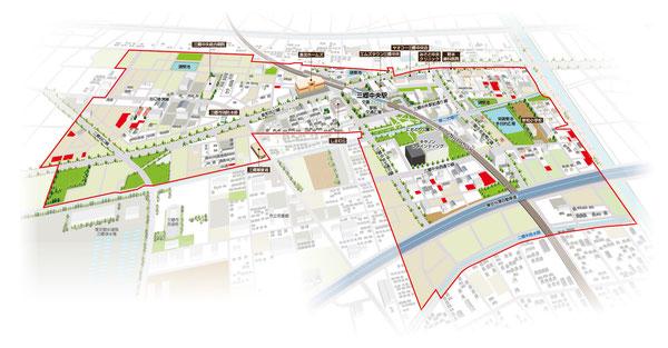 三郷中央,地図,マップ