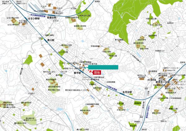 栗平,新百合ケ丘,地図,マップ