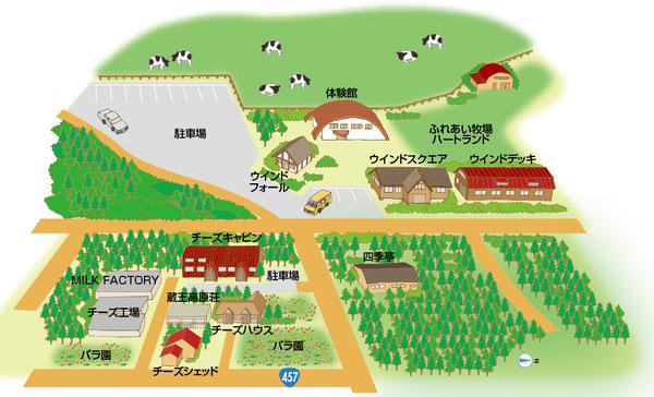 七日原イラストマップ