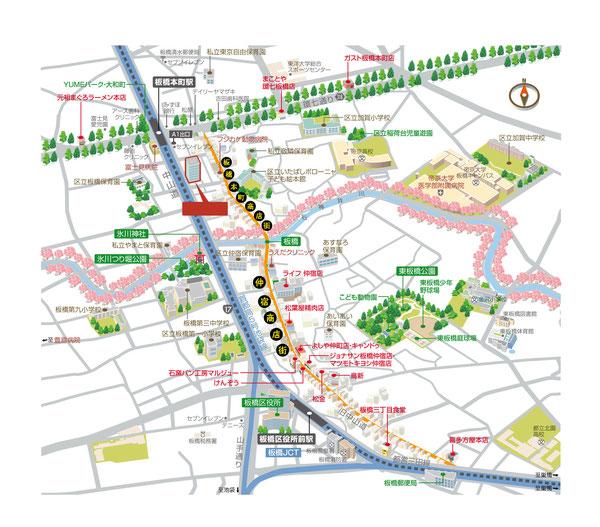 板橋本町 商店街マップ
