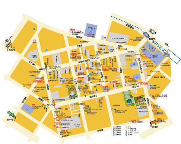 中華街マップ