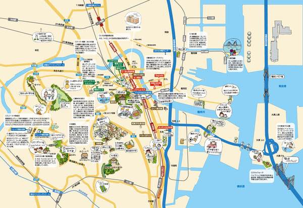 鶴見イラストマップ