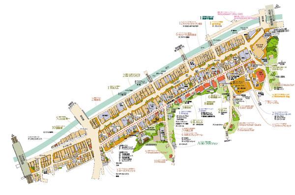 元町商店街マップ