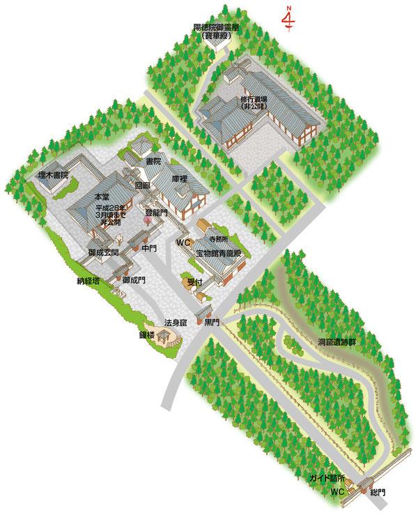 端厳寺イラストマップ