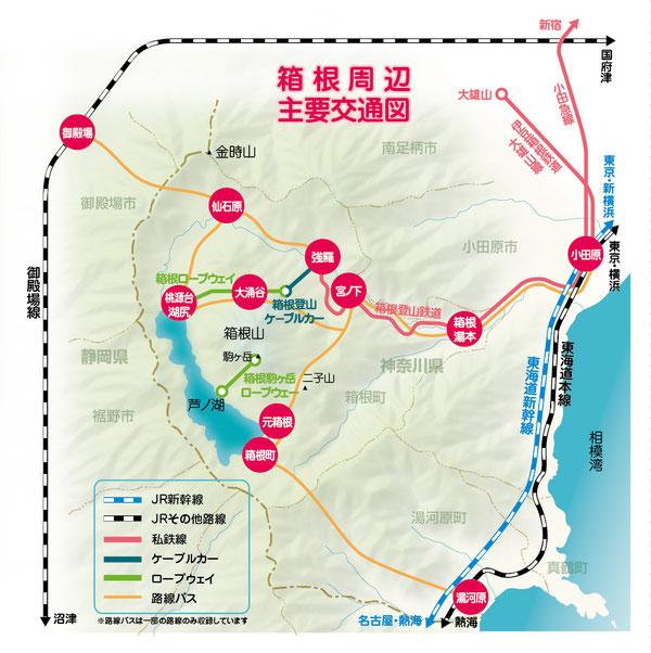 箱根路線図 主要交通図
