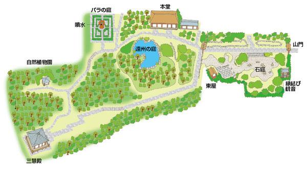 円通院イラストマップ