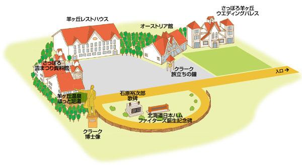羊ヶ丘イラストマップ