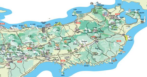 東北,観光マップ,地図