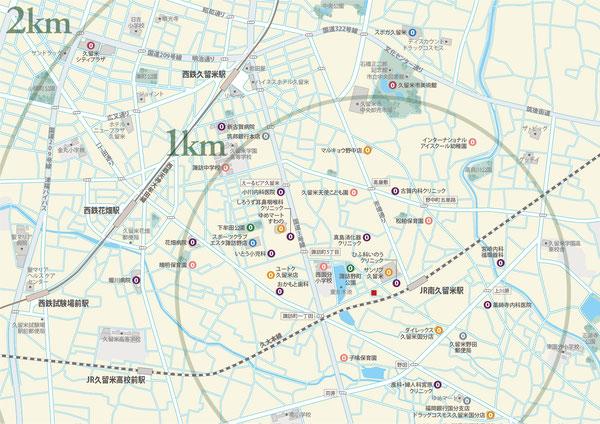 南久留米,地図
