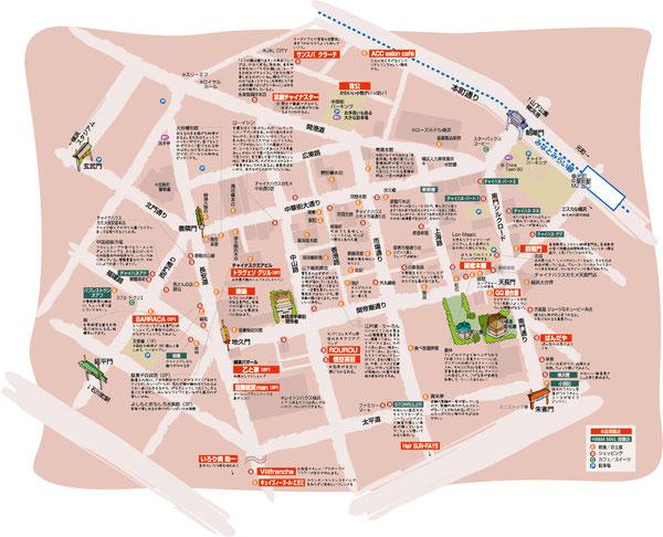 中華街イラストマップ