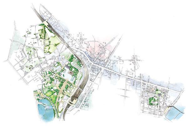上野イラストマップ