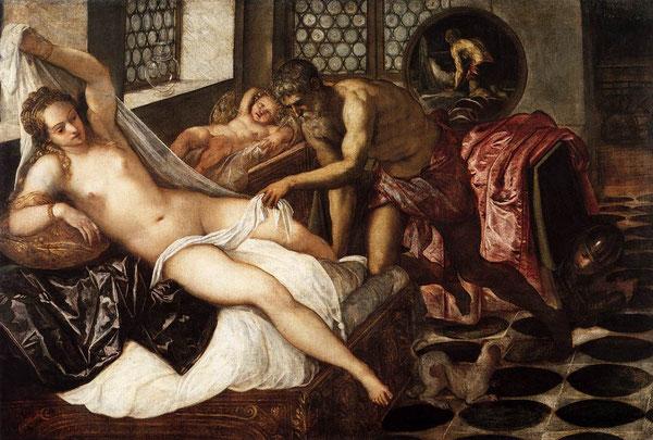 Jacopo Tintoretto, Venere, Marte e Vulcano, Monaco, Alte Pinakothek