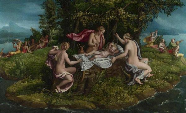 Giulio Romano, Nascita di Zeus, Londra, National Gallery