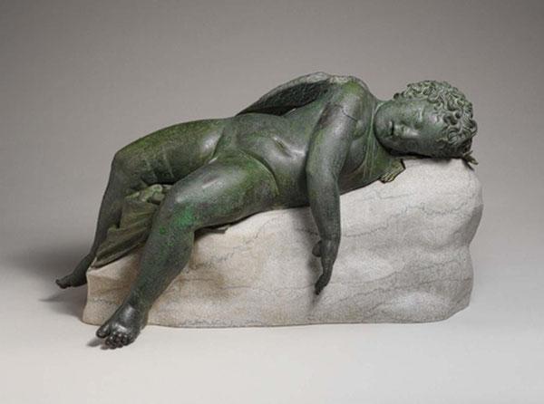 Cupido dormiente, bronzo, età romana, Metropolitan Museum, New York