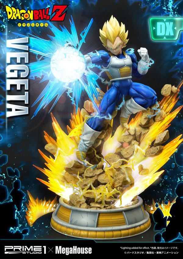 Super Saiyajin Vegeta Deluxe Version 1/4 Dragon Ball Z Anime Statue 64cm Polygone Led beleuchtet Prime 1 Studio
