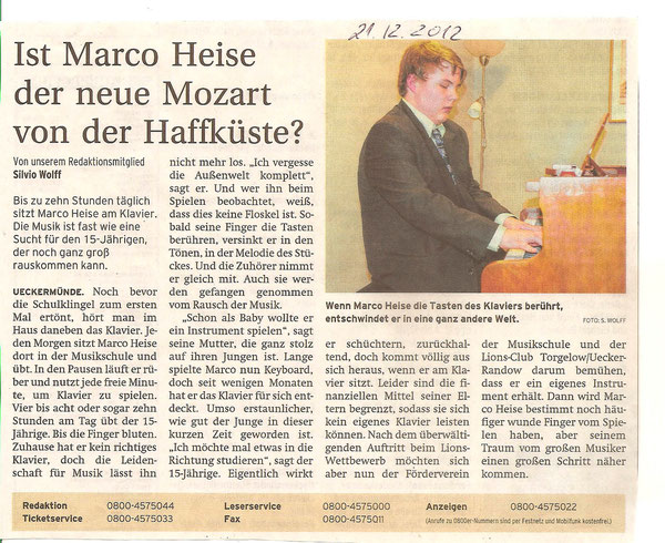 Marko Heise fährt nach Berlin