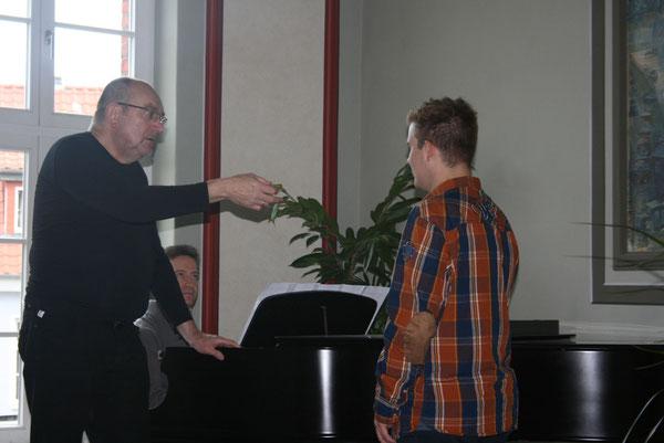 Unterricht bei internationalen Künstlern für Sören Eberbach mit Prof.Zalewski und Diego Crovetti