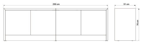 Maße des Sideboards