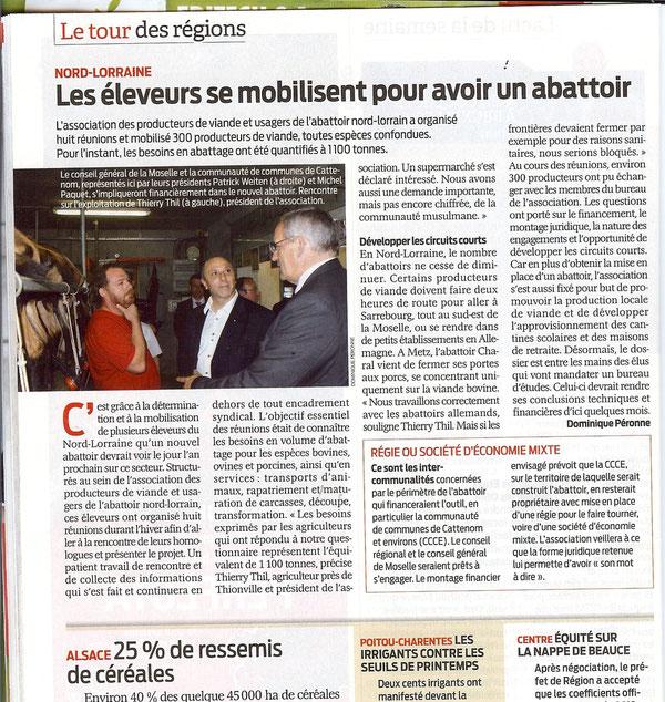 Edition France Agricole du 02/04/12