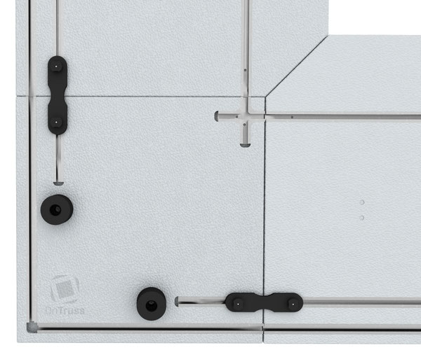 OnTruss EventBoard BoardBinder | Verbinder-Baustein in EventBoard Corner C90A als Eckstück
