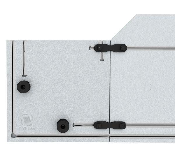 OnTruss EventBoard BoardBinder | Verbinder-Baustein in EventBoard Corner C90A als Endstück