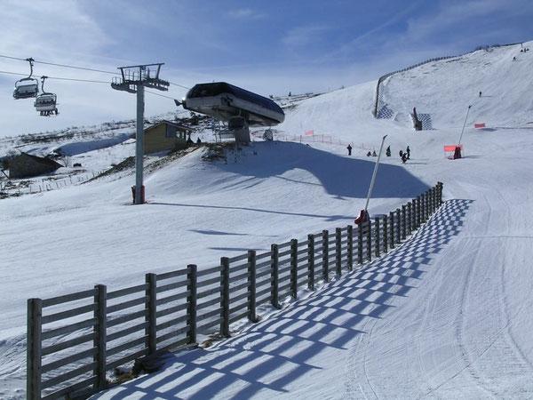 Station de ski, le haut de la piste des Granges