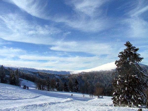 Chemin d'accès aux pistes de ski de Couzan