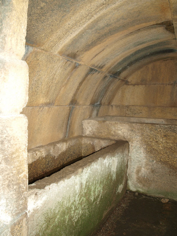 stone coffins in the tomb