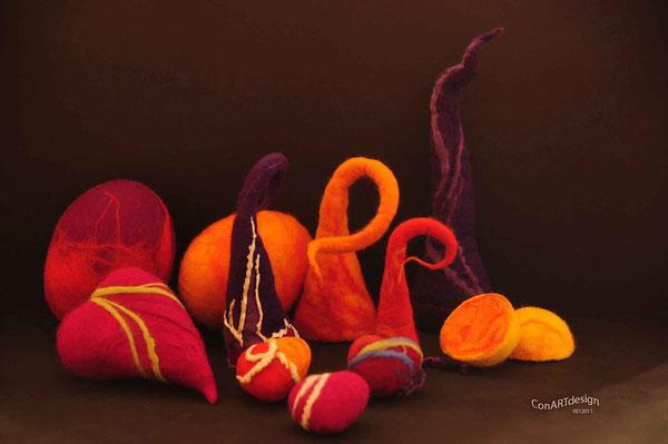 Filzkunst und Fotodesign - Energie der Formen und Farben