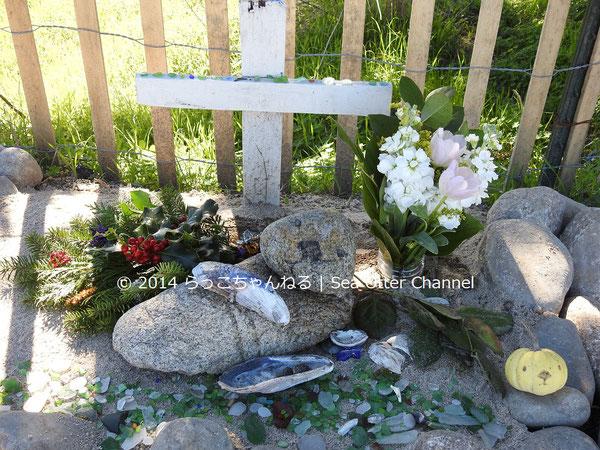 地元の人がミスター・エンチラーダを偲んでつくった記念碑。