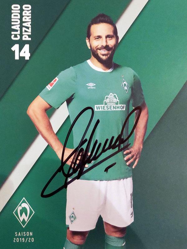 Autograph Claudio Pizarro Autogramm