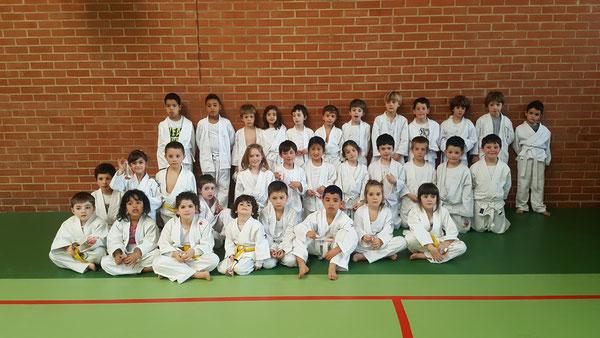 Judo Club San Ignacio junto a los equipos de Padre Orbiso y Virgen Niña.