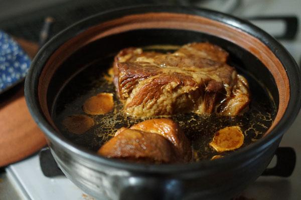 陶芸家 ブログ 土鍋 煮込み料理 チャーシュー 焼豚 煮豚  土鍋料理 土鍋レシピ 豚塊肉 笠間市