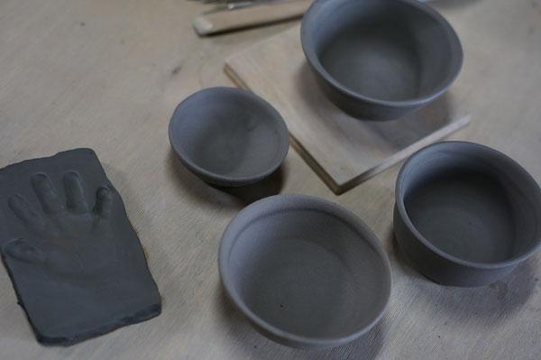 陶芸家 ブログ 焼き物 陶芸作家 手形 粘土 赤ちゃん 孫 ご飯茶碗 食器 笠間市