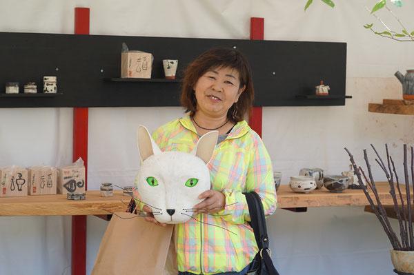 仲本律子 R工房 女性陶芸家 ブログ 猫 火まつり 陶炎祭 笠間市