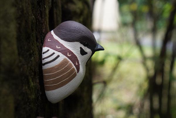 陶芸家 焼き物 陶芸作品 茨城県笠間市 土鍋作品 粉引き作品 野鳥 鳥の飾り かわいい壁飾り 陶器の鳥 鳥 すずめ