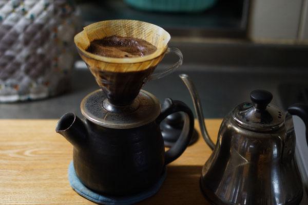 陶芸家のブログ 陶芸家 陶器 陶芸 土鍋 ポット コーヒーポット コーヒー 耐熱ポット 笠間市