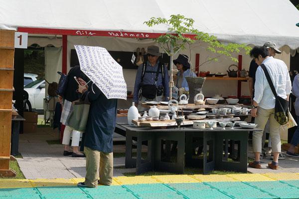仲本律子 陶芸作家 ブログ 女性陶芸家 茨城県笠間市  陶炎祭 ひまつり