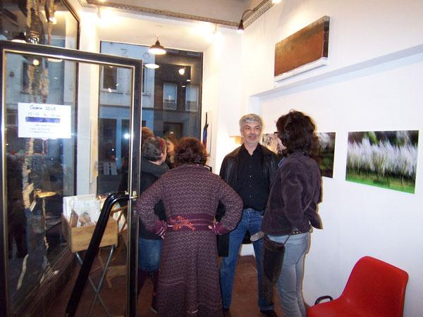 Vernissage mit Ben Mezoudj in der Galerie SEHR Februar 2014