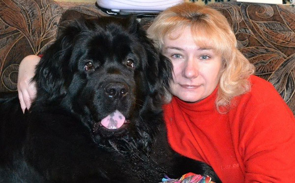 Kora and her owner Marina Bogdanova