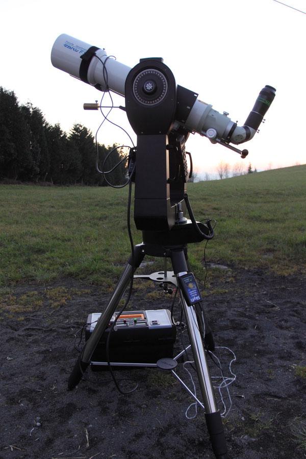 """Actualización Montura Meade LX200 14"""" GPS con cintas calefactores y SkyFi para control WIFI del Binoscopio"""