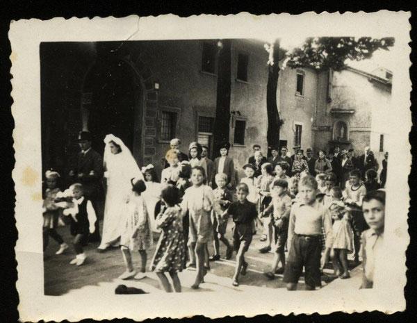 Prevostina, Largo Galluzzi - Via Roma, Matrimonio (1951)