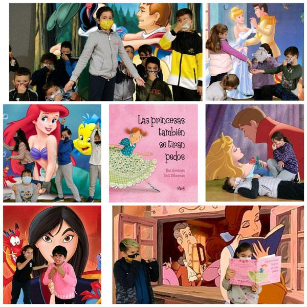 """♀️🟣Hoy 25 de noviembre🟣♀️, los alumnos de 4A han leído """"Las princesas también se tiran pedos"""". Han representado las distintas princesas y sus compañer@s se han tenido que tapar la nariz en más de una ocasión 😝😜💨💨 #igualdad #coeducación #25denoviembre #yoleo #nosotrosleemos"""