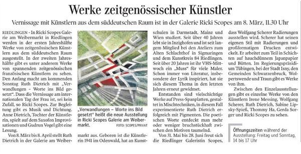 Schwäbische Zeitung 06.03.2015