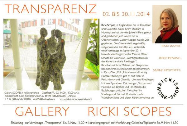 Flyer für die Ausstellung