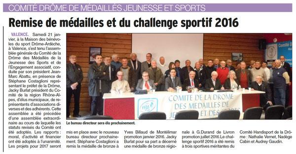 Dauphiné du 24 janvier 2017.