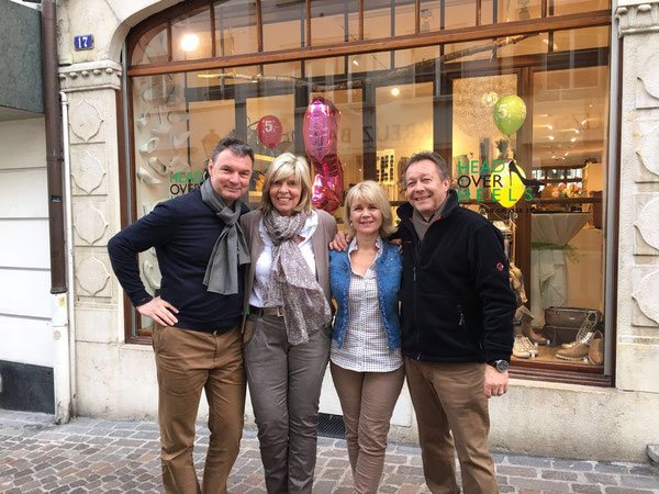 HoH-Team Urs, Martin, Esthy und Gisela, April 2016