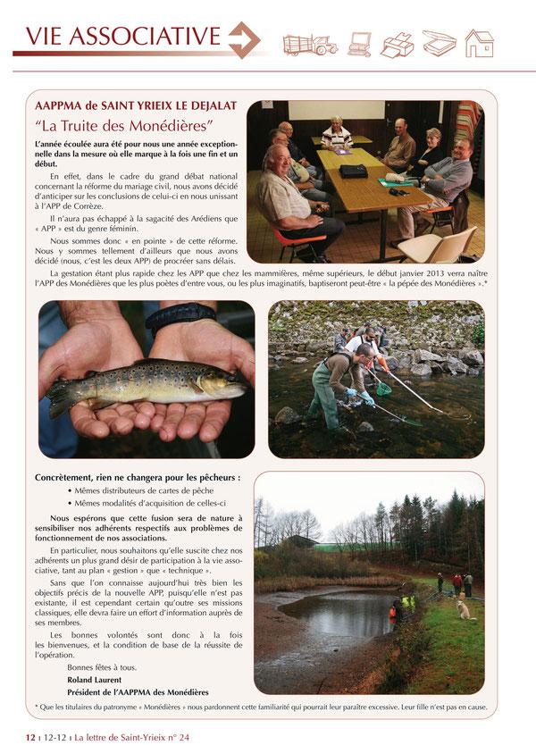 Bulletin municipal de Saint-Yrieix le Déjalat - Edition de Décembre 2012