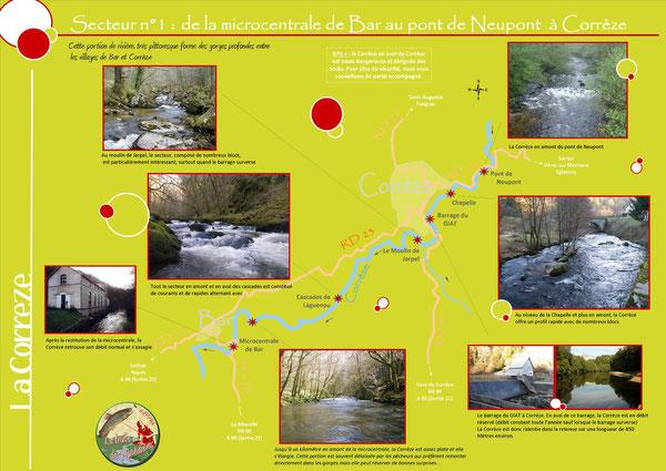 Coins de pêche sur la Corrèze - Tronçon 1