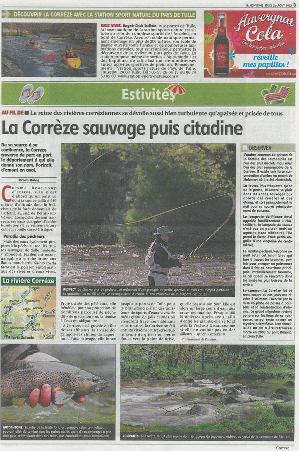 Pêche truite ombre corrèze